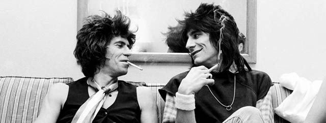 Keith Richards y Ronnie Wood