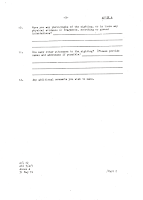 Australian UFO Report Forms Circa 1980's 3 of 6