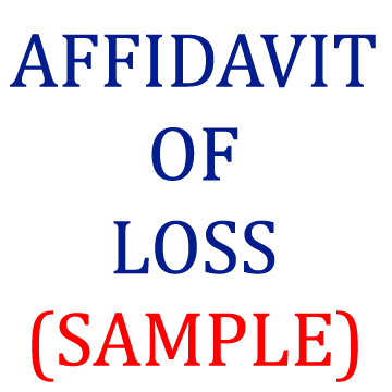 SAMPLE - AFFIDAVIT OF LOSS ~ The Legalnaija Blawg