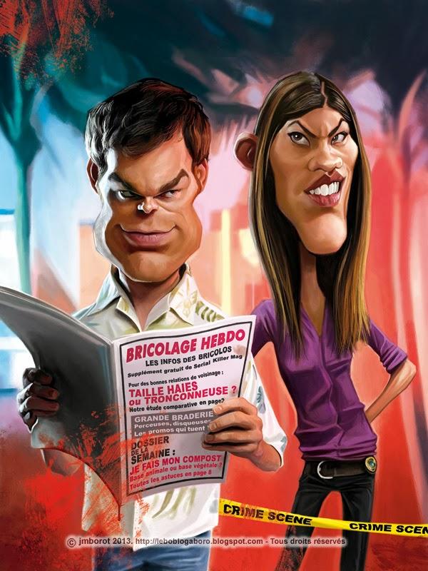"""Michael C. Hall y Jennifer Carpenter"" por Jean Marc Borot"