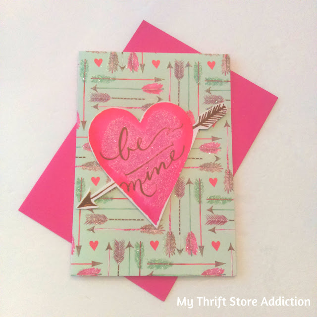 repurposed Valentine greeting card art