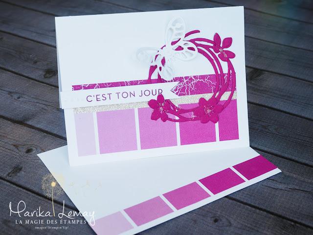 carte thinlits Big Shot Stampin' Up! tourbillonnant Saison colorée Colorful season