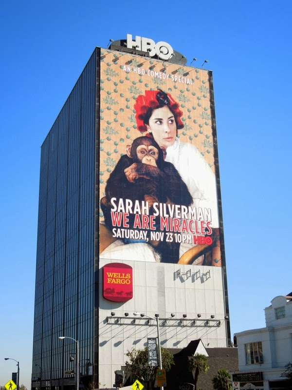Sarah Silverman We Are Miracles chimp billboard
