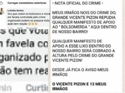 Resultado de imagem para facções criminosas em fortaleza contra bolsonaro