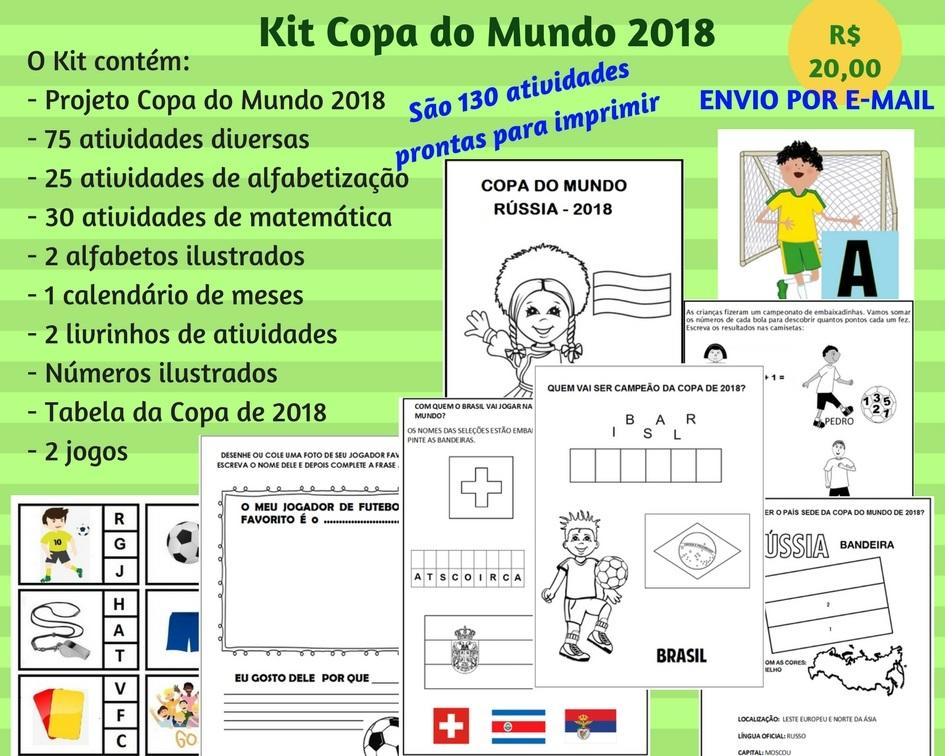 Minha Paixão Alfabetização Copa Do Mundo 2018