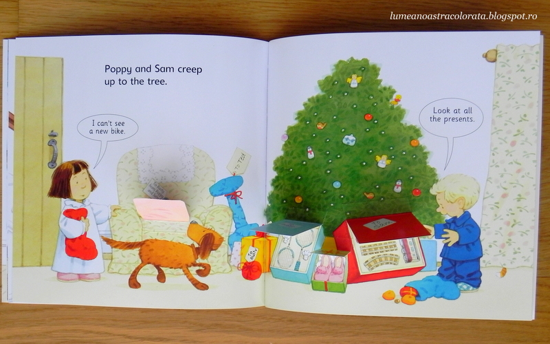 Christmas flap book and jigsaw editura Usborne