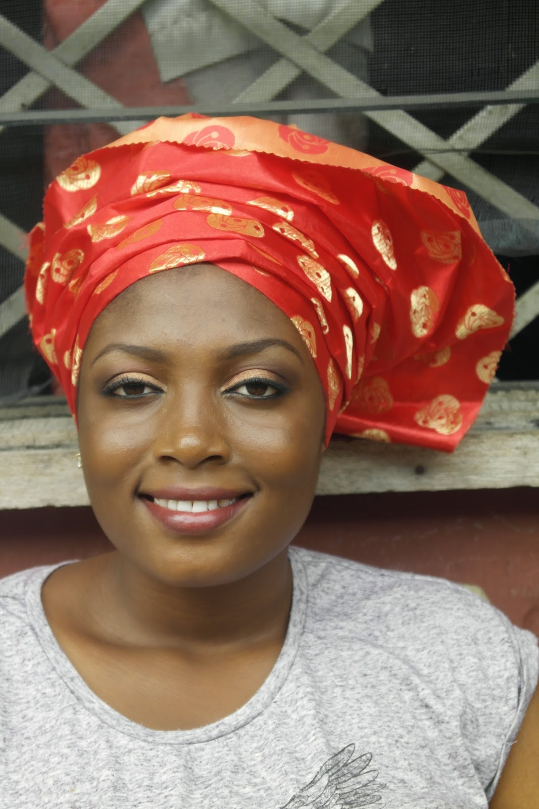 make-over, perfect for owambe, nigerian wedding look, gele tying, red lips