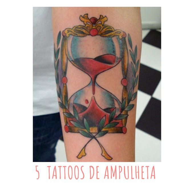 5  TATTOOS DE AMPULHETA