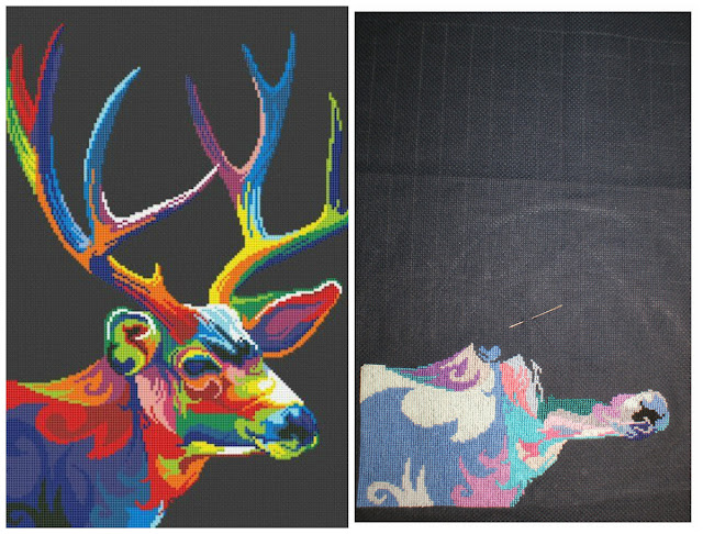 Kolorowy jeleń – colorful deer #3