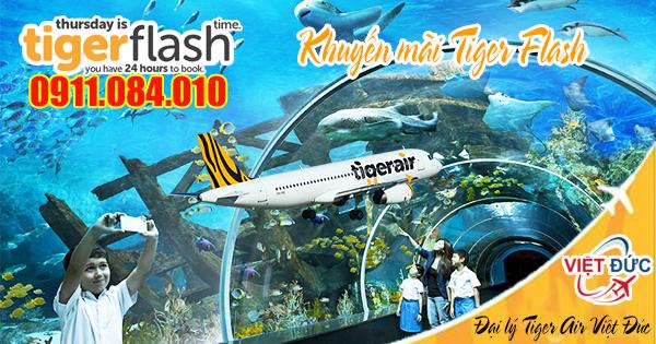 Đặt vé khuyến mãi Tiger Flash của Tiger Air đi Singapore