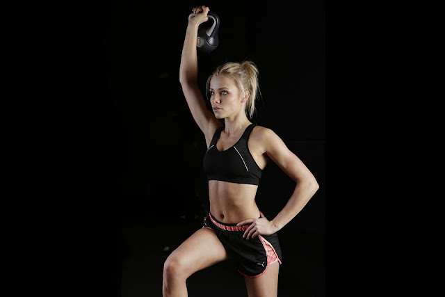 Push Pull CrossFit WOD Workout kettlebell presses