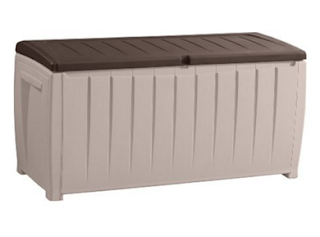 Keter Novel Plastic Deck Storage Container Box 90 Gal