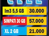 Download Contoh Spanduk Daftar Harga Pulsa.cdr