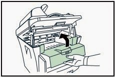 kyocera remove paper jam