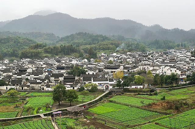 Vue aérienne de Xidi