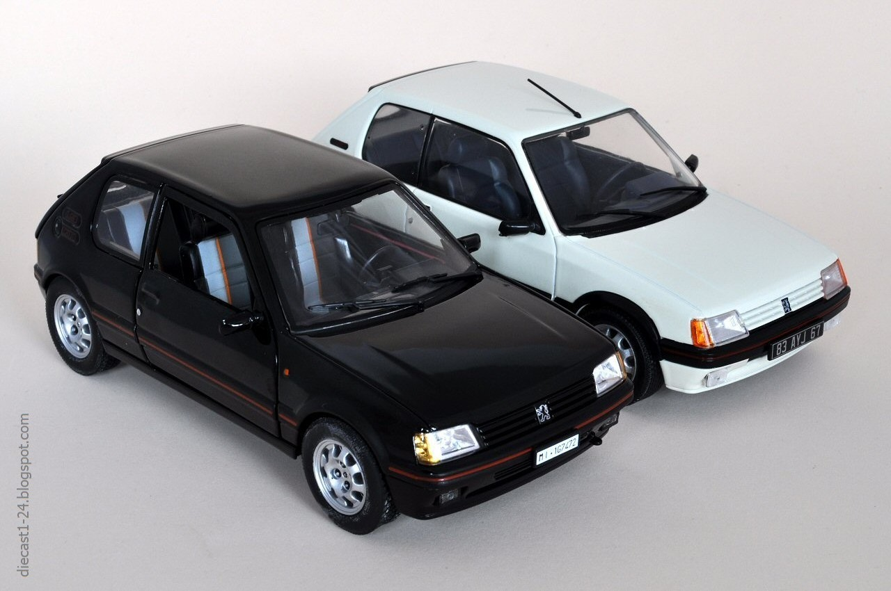 diecast 1 24 auto vintage france 12 peugeot 205 gti. Black Bedroom Furniture Sets. Home Design Ideas
