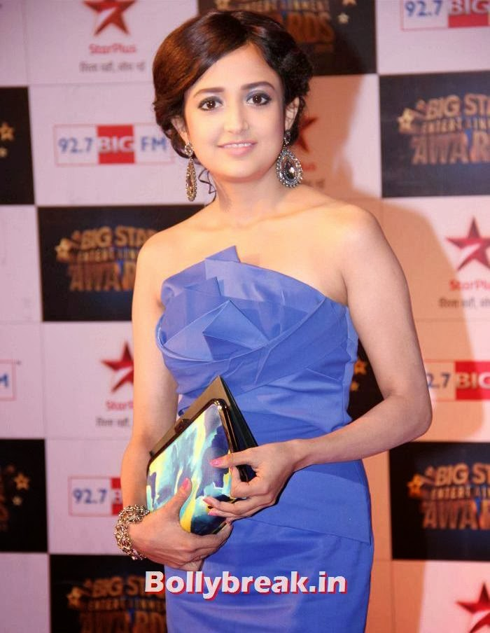 Monali Thakur, Tv babes Sizzle on Big Star Entertainment Awards 2013 Red Carpet