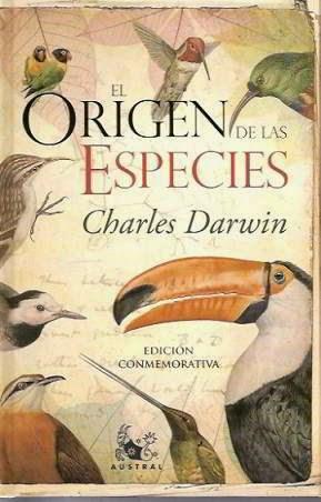 Portada del libro el origen de las especies