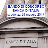 bando di concorso banca d'italia 2017