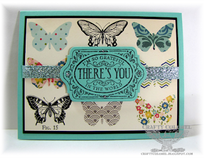 CarftyColonel Donna Nuce for Cards in Envy Challenge, October Afternoon DP, Stampin;Up Chalk Talk, Thank You Card