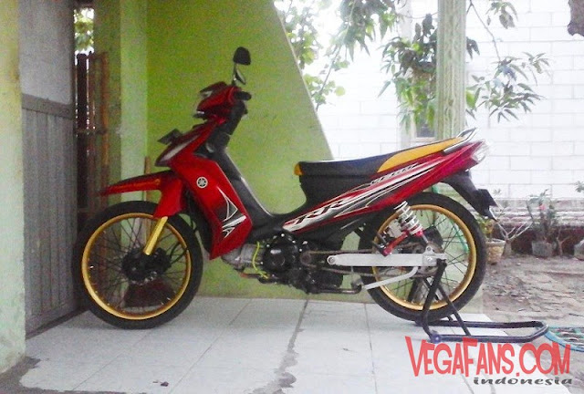 Modifikasi Vega RR Merah Modif Simple