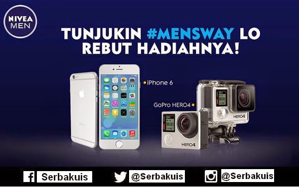 Kontes Mens Way Berhadiah iPhone 6 & GoPro Hero 4