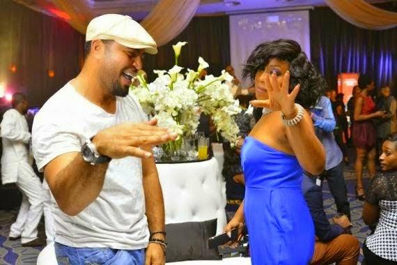 Rita Dominic and Ramsey Noah dancing shoki