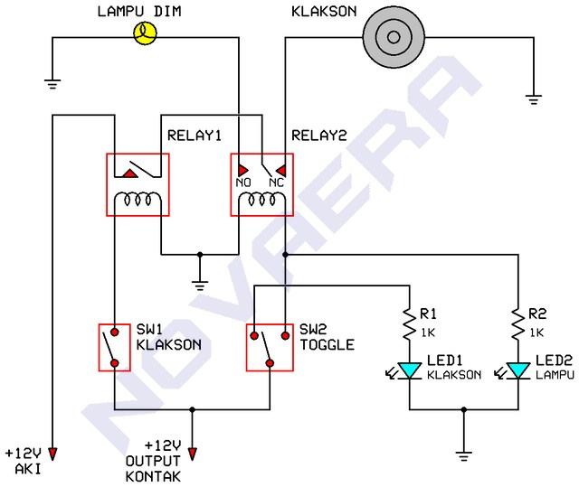 wiring diagram kontak mobil