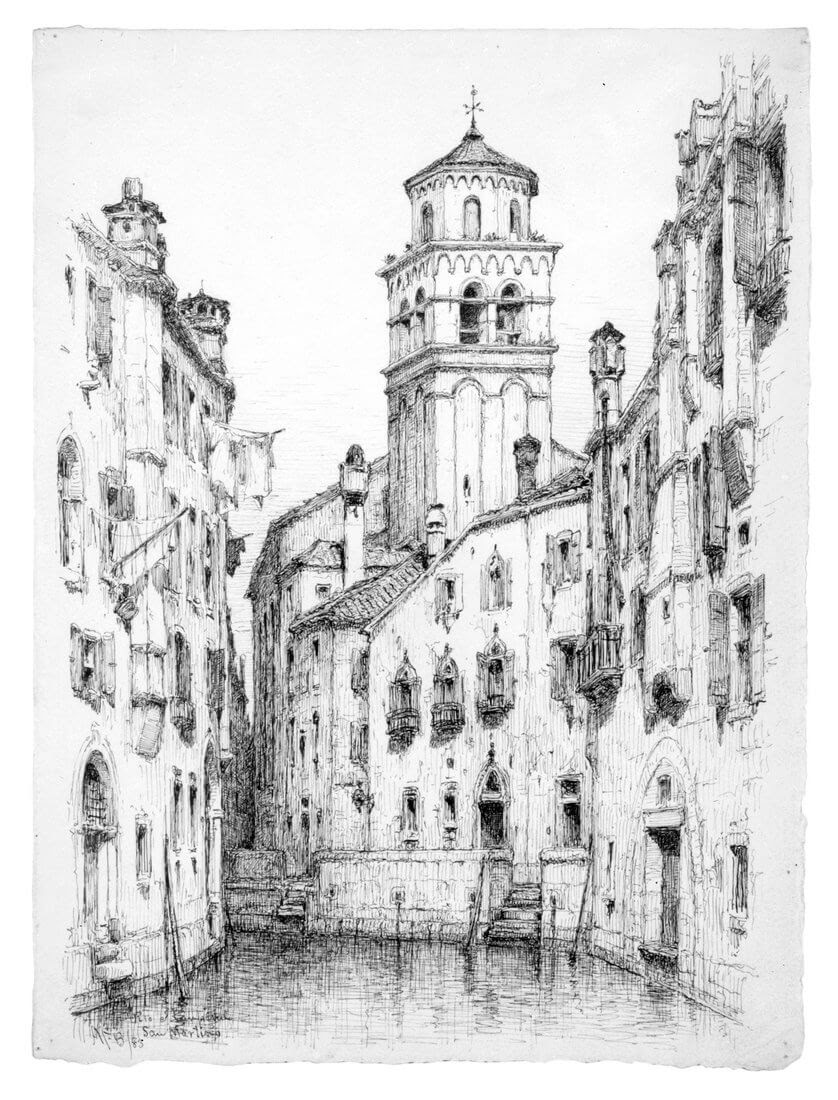 02-San-Martino-Venice-1883-Andrew-F-Bunner-Venice-Urban-Architectural-Drawings-from-the-1800s-www-designstack-co