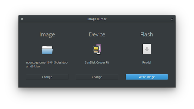 Interface do Image Burner