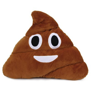 Almofada de Pelúcia Emoji Poo - Gearbest