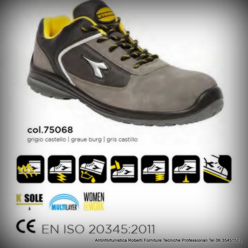 Tutti i prodotti DIADORA Blitz soddisfano i requisiti per le calzature di  sicurezza con un attenzione ai dettagli. Tomaia in pelle ... 9c2baa2c13a