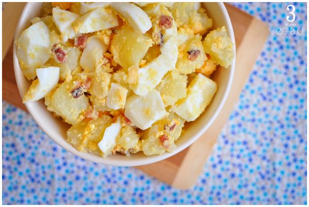 salada de ovos com bacon receita