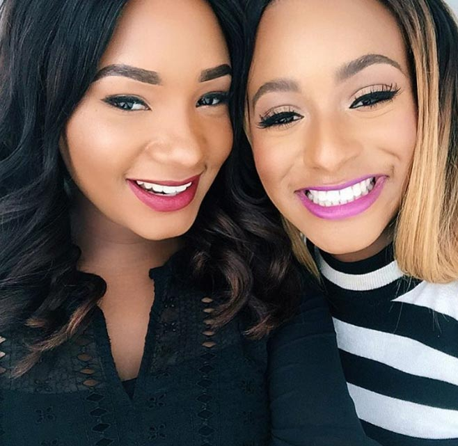 Aww! DJ Cuppy and her sister Temi