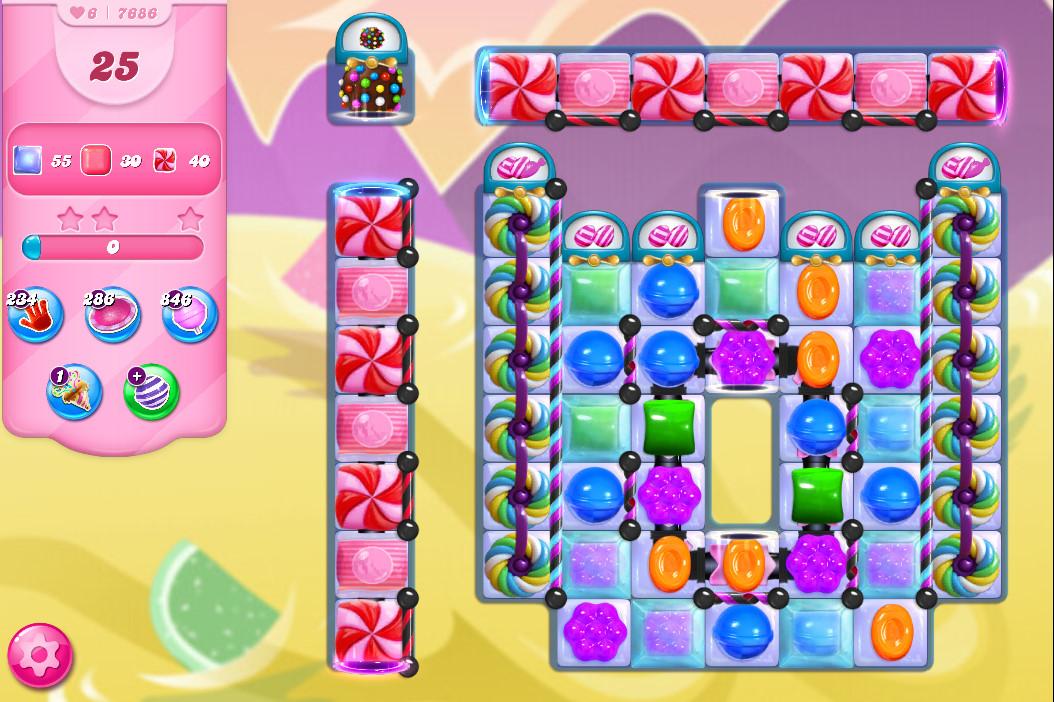 Candy Crush Saga level 7686