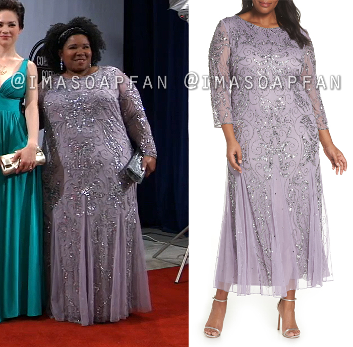 Deanna Sirtis, Dioni Michelle Collins, Beaded Light Purple Gown, Dress, Nurses Ball, General Hospital, GH