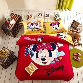 Bed cover dan sprei motif mickey mouse-1