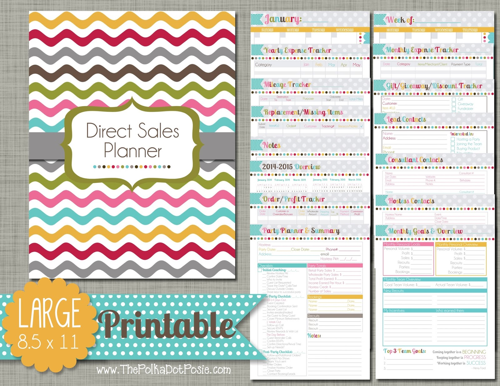 The Polka Dot Posie Direct Sales Planner Instructions