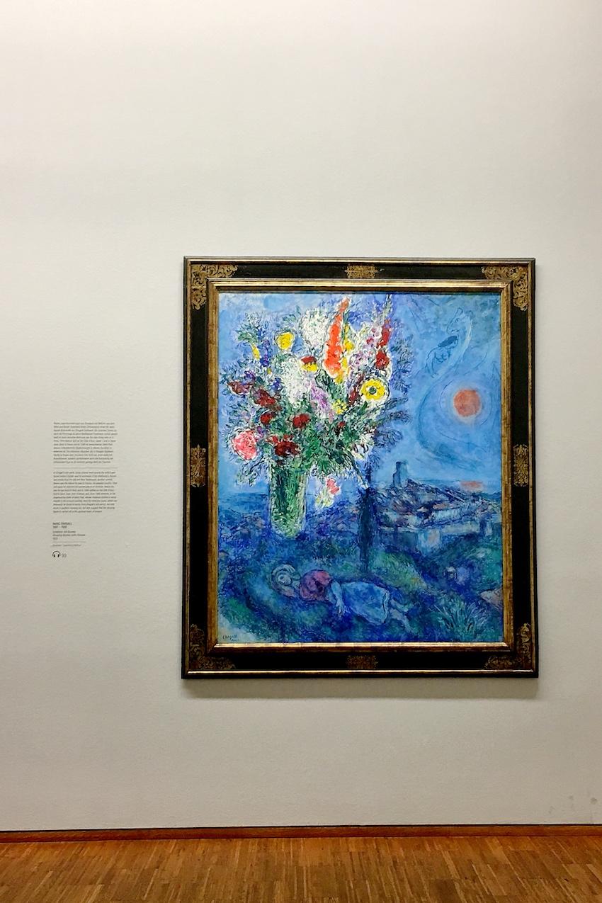 Marc Chagall: Schläferin mit Blumen, 1972