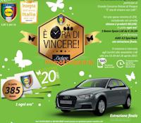 Logo E' ora di vincere con Lidl : buoni spesa da 20 euro e Audi A3 Sportback
