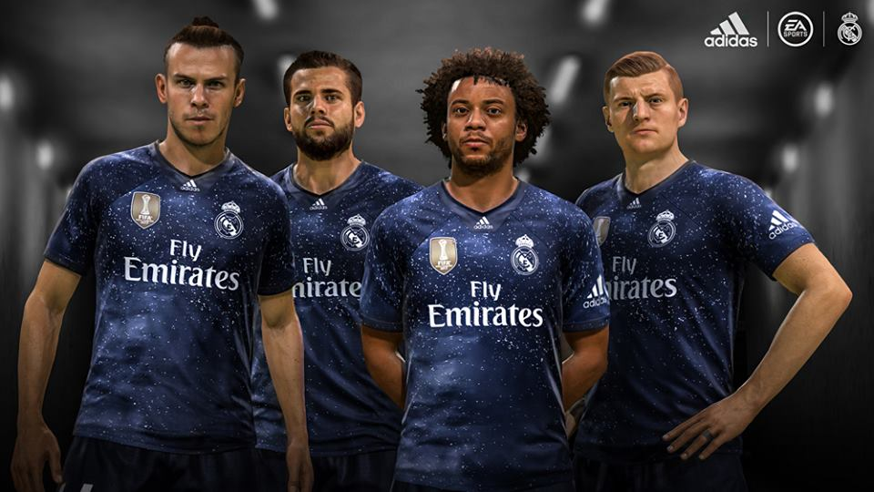 Real Madrid Digital 4th kit start screen for PES 2017