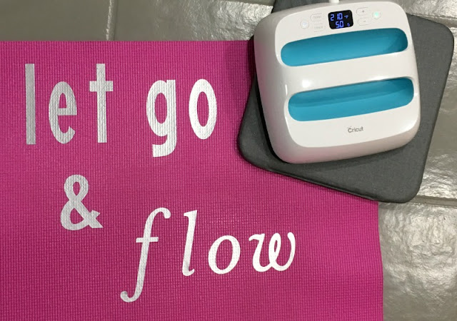 Did you know you could use iron on with a yoga mat? I used the new SportFlex Iron on and my Cricut EasyPress to customize a yoga mat!
