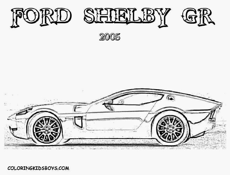 Ford Mustang Car Coloring Page (4 Image)