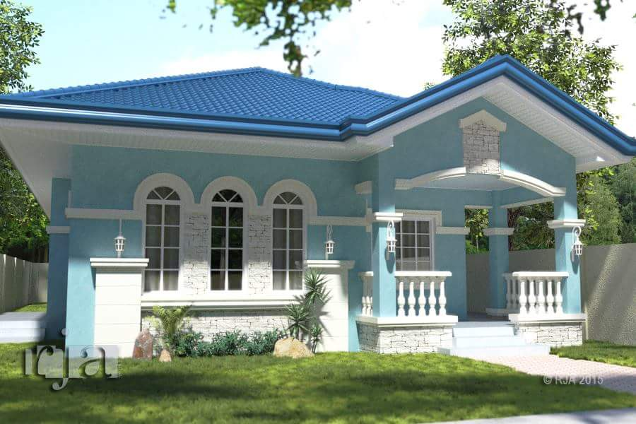 20 small beautiful bungalow house design ideas ideal for for Terrace ng bahay
