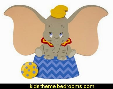 Disney Dumbo Shaped Wall Art circus bedroom ideas - circus theme bedroom decor - carnival theme bedrooms - decorating circus theme bedrooms - Ice Cream theme decor - balloon decor - Disney Dumbo - circus party theme - Roller Coaster Amusement Park wall decals - ice cream party decorations
