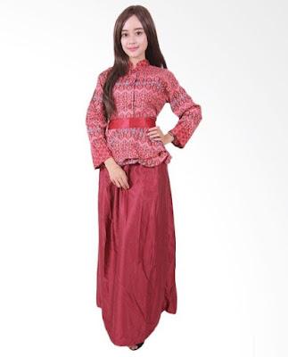 Model Gamis Batik Orang Gemuk