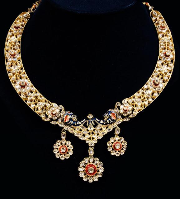 surana-jewellers-elephant-face-necklace