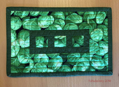 Green vegetables - Brussel Sprout Mug Rug
