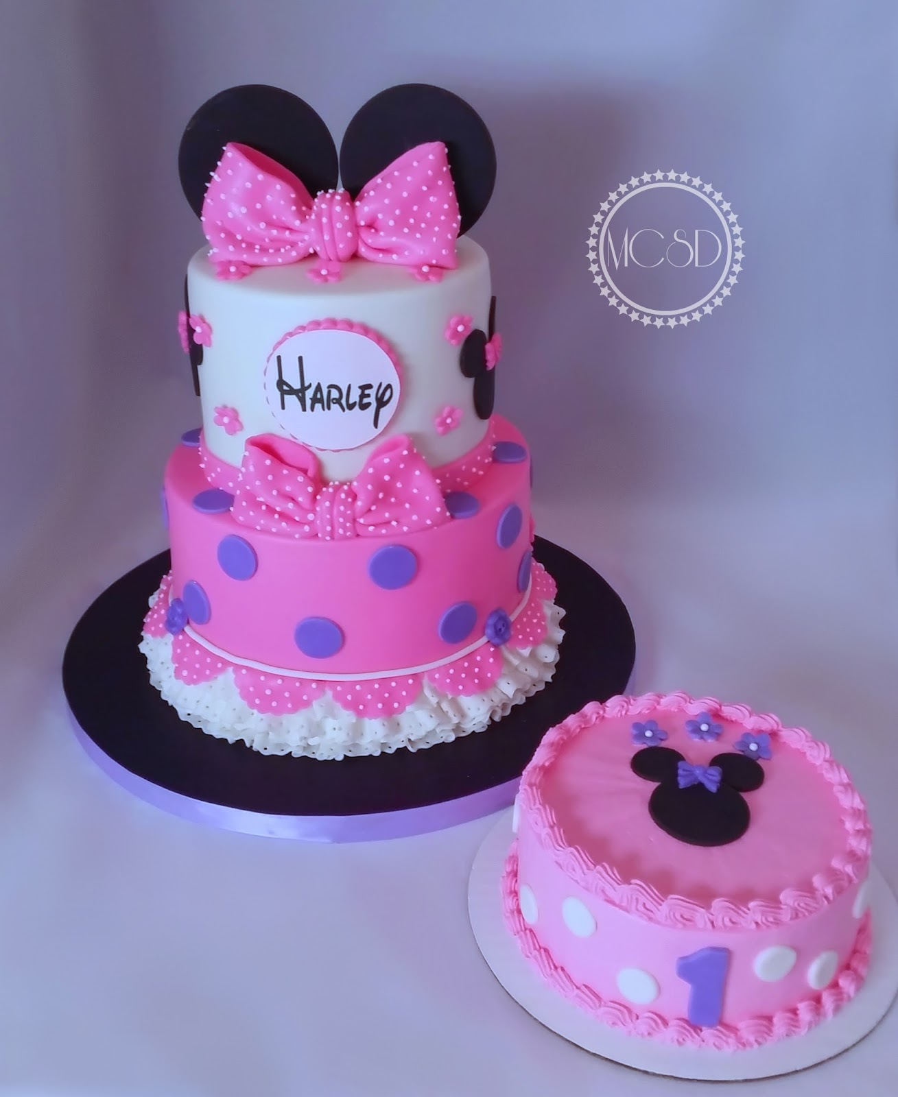 Cakesbyzana Minnie Mouse 1st Birthday Cake
