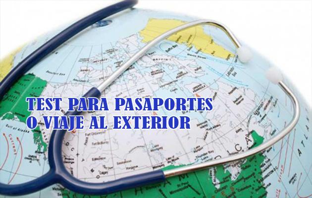 Test para viajes al exterior